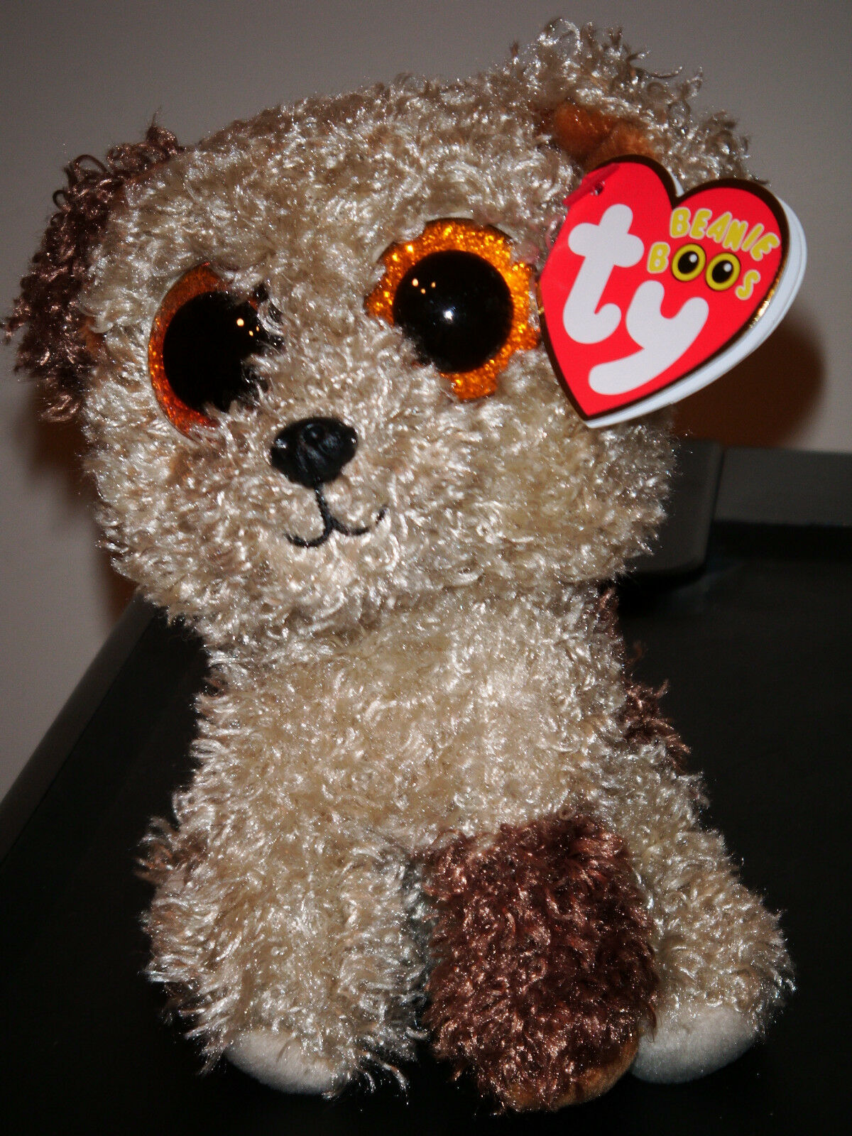 Ty Beanie Boos  ROOTBEER the the the Dog with Glitter Eyes (6 Inch) NEW MWMT ef33c5