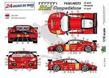 """[FFSMC Productions] Decals 1/18 Ferrari F-430 LMGT2 """"Team RISI"""" (LM 2009)"""