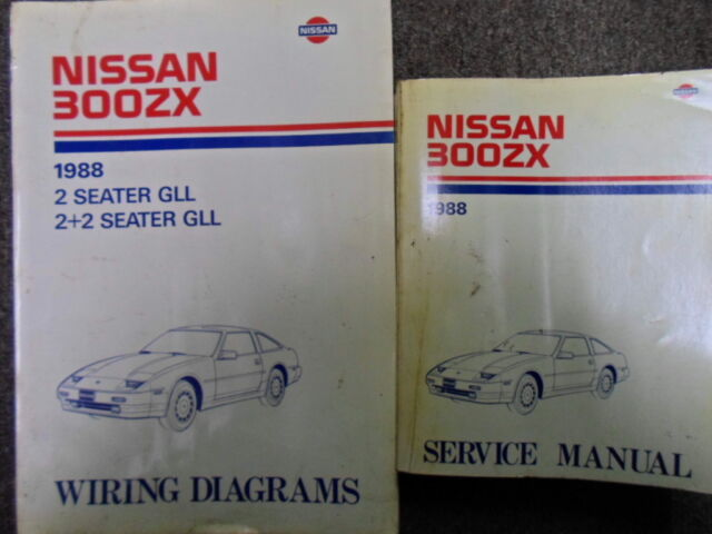 1988 Nissan 300zx 300 Zx Service Repair Shop Manual Set Factory W Wiring Diagram