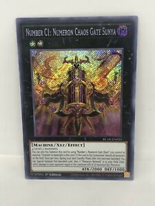Number C1: Numeron Chaos Gate Sunya BLAR-EN021 1st Edition - Secret Rare