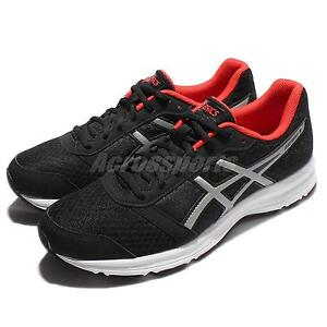Asics Patriot 8 Black Red White Men Running Shoes Sneakers Trainers T619N 9091