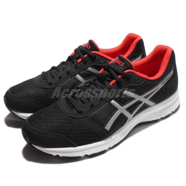 ASICS Patriot 8 Black Red White Men Running Shoes SNEAKERS
