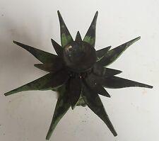 Brass Antique Vintage Lotus Candle Stand Burner Oil Lamp  Holder Tibetan Turtle