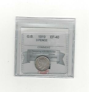 1919-Great-Britain-Threepence-Coin-Mart-Graded-EF-40