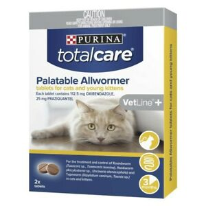 Purina Total Care Palatable Allwormer Cat Kittens Treatment Tablets 2 pk