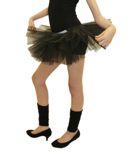 3 LAYER GIRLS TUTU SKIRT 80S KIDS BALLET DANCE COSTUME FANCY DRESS PARTY SKIRT