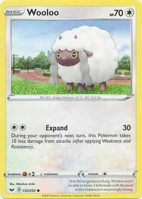 Wooloo  153//202 Sword /& Shield Base  Common  Mint//NM Pokemon