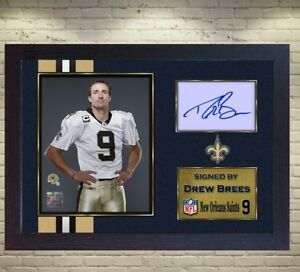 57a63ce79ac Drew Brees New Orleans Saints NFL signed autograph American Football ...