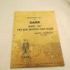 Case Supplement No 1 Model 425 Two Row Mounted Corn Picker Parts Catalog No 625