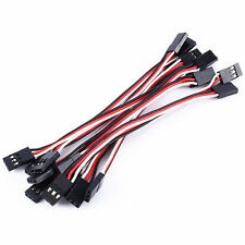 10pcs 10cm  Quadcopter Servo Extension Lead Futaba JR Male to Male Cable UK