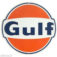Vintage Style Gulf Oil Metal Signs 12'' Can Man Cave Garage Home Decor Dad Gift