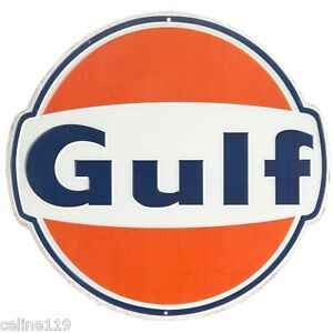 Gulf Oil Metal Signs 12'' Can Man Cave Garage Home Decor Dad Gift