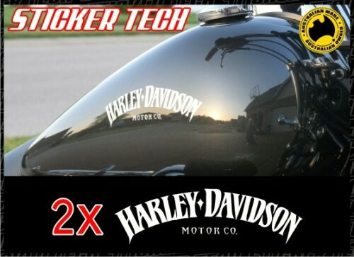 2X HARLEY DAVIDSON TANK STICKERS DECALS SUIT SPORTSTER V ROD ROADSTER IRON 1200