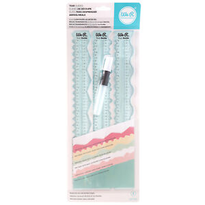 American-Crafts-We-R-Memory-Keepers-Tear-Guides-12-034-Clear-Rulers-Pack-of-4