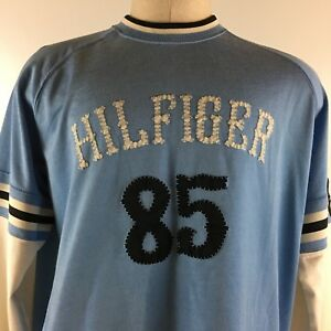 eb54df9c Image is loading Vintage-Tommy-Hilfiger-Tommy-Jeans-THJ-Embroidered-Jersey-