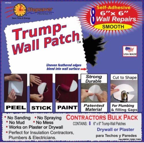 Self-Adhesive Trump-Wall Repair Patch kit USA MADE STICK /& PAINT PEEL