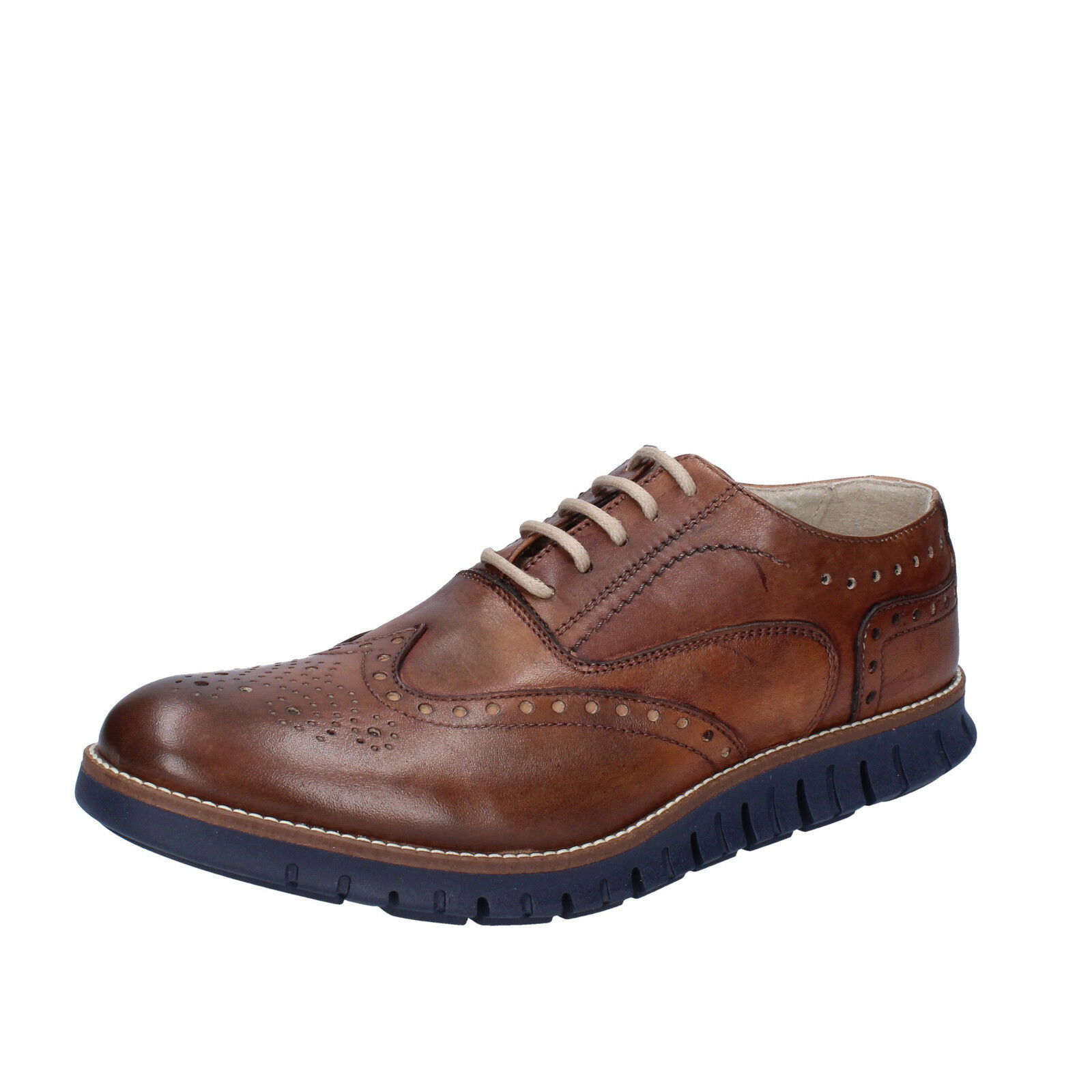 Mens shoes OSSIANI 7 () elegant brown leather BT859-41