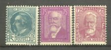 "FRANCE STAMP TIMBRE  291 / 293 "" DOUMER + BRIAND + HUGO 1933 "" NEUFS xx TTB"