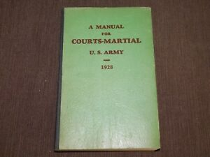 VINTAGE-1928-COURTS-MARTIAL-US-ARMY-BOOK