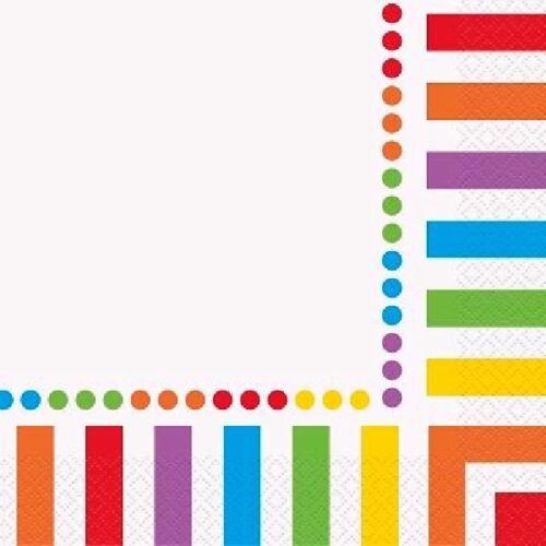 16 unidades Arco iris Servilletas 33cm 2ply Cumpleaños Fiesta Vajilla Suministros Adulto Orgullo Gay