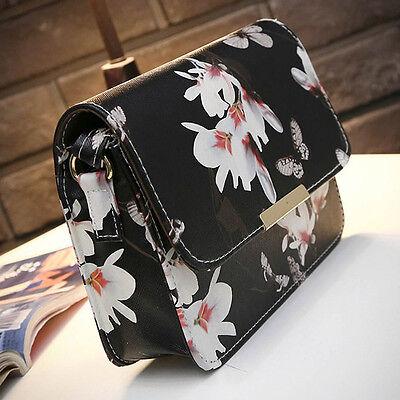 Women Floral Shoulder Bag Tote Handbag Faux Leather Messenger Hobo Satchel Purse
