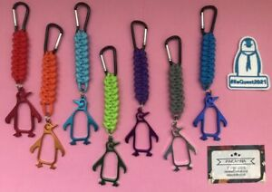 Handmade Paracord Penguin Bottle openers for #ReQuest 2021 (Single Colour)