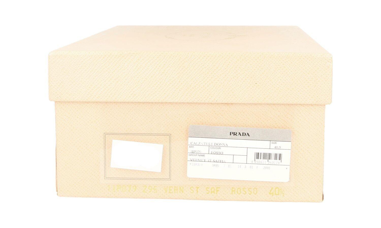 LUXUS PRADA PLATEAU SAFFIANO PUMPS SCHUHE 1IP079 ROT ROT ROT NEU NEW 40 40,5 UK 7 73067d