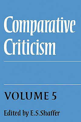 1 of 1 - Comparative Criticism: Volume 5, Hermeneutic Criticism, Unknown, Used; Acceptabl