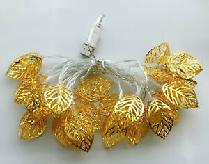 3M-Warm-White-Stereo-leaf-20-LED-String-Christmas-Wedding-Party-Fairy-Lights