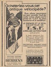 Z8677 Récepteur T.S.F. à Réglage automatique - Pubblicità d'epoca - 1926 Old ad