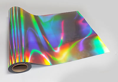1m ROLL NEO CHROME SILVER HOLOGRAPHIC IRIDESCENT STICKY BACK PLASTIC SIGN VINYL
