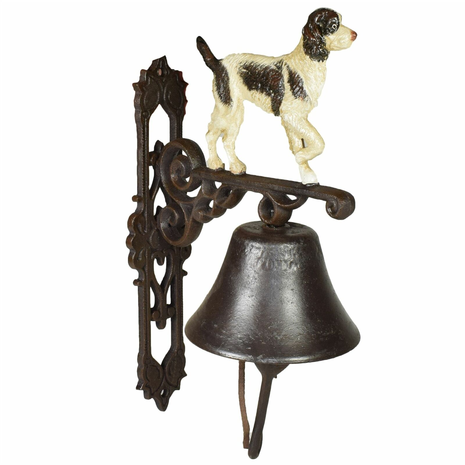 Springer Spaniel Dog Bell Cast Iron Sign Plaque Door Wall Fence Gate Post House