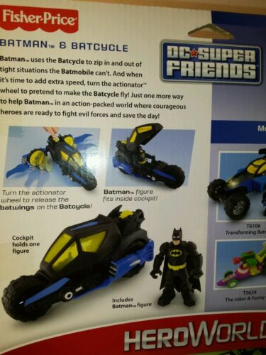 Fisher Price DC Super Friends * Batman BATCYCLE /& DVD grand