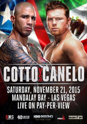 Miguel Cotto Vs.Canelo Alvarez November 21st 2015 Foto Poster Boxer 002