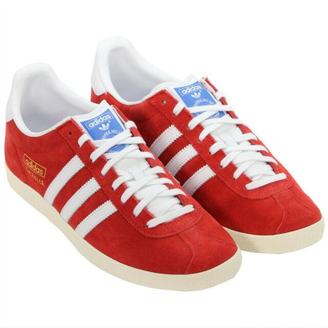 online retailer 7629f e98a1 adidas Originals Gazelle OG Red White Retro Classic Casual Shoes ...