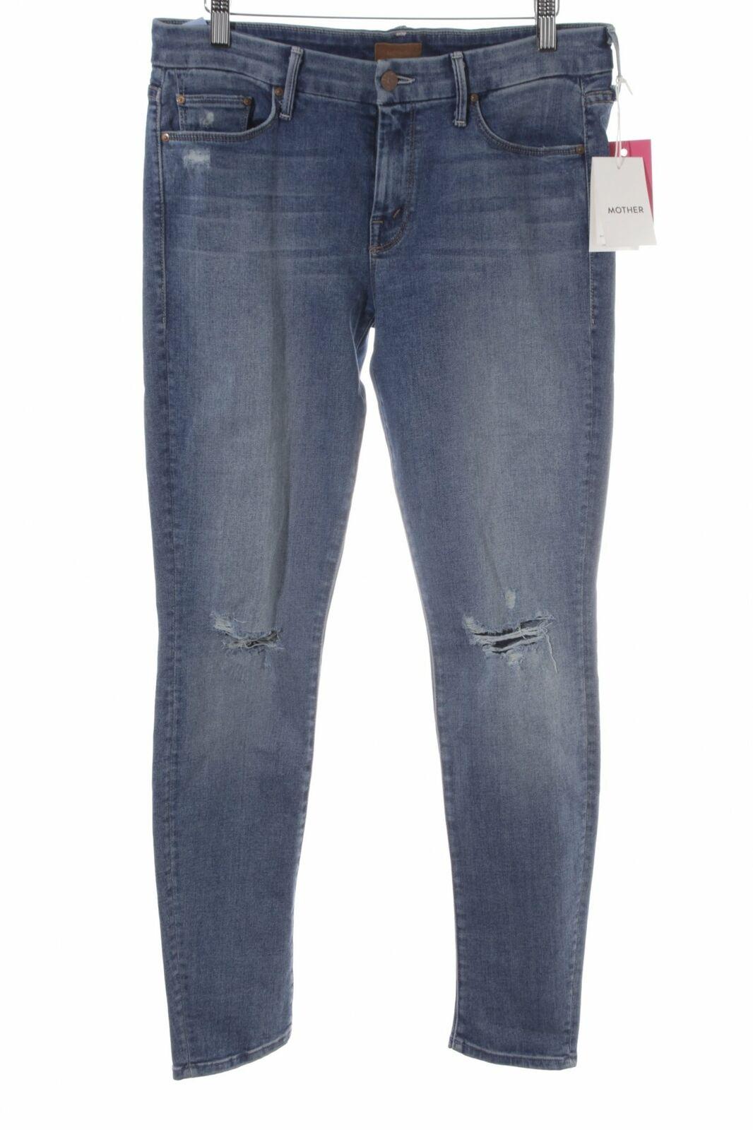MOTHER Röhrenjeans stahlblau Boyfriend-Look Damen Gr. DE 36 Jeans Tube Jeans