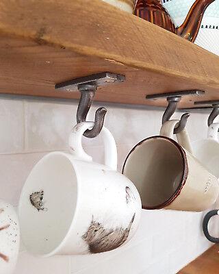 Rustic Cup mug shelf Hook Hooks Iron | Coffee Cup Hooks | Under Shelf hook | eBay