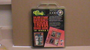 1991 CLASSIC MLB BASEBALL TRIVIA BOARD GAME SERIES 2. SEALED/MINT