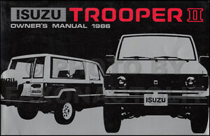 99 isuzu trooper owners Manual
