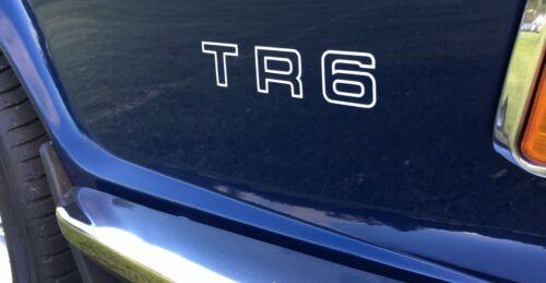 Triumph TR6 Aile Arrière Autocollants Decals