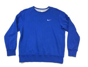 Nike-Bleu-Swoosh-Logo-Crewneck-Sweat-shirt-en-coton-melange-Travis-Scott-Homme-XL