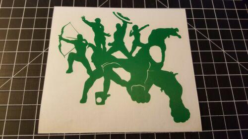 Super Hero Avengers Custom Vinyl  Sticker Car Window BumpersToolBox laptop