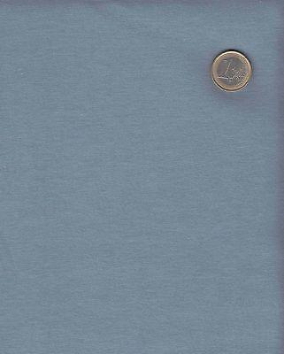 1 m Baumwoll Single Jersey uni stahlblau, 5,95 €/m, blau