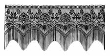 Heritage Lace Gothic Black Halloween Gala 4 Way, Mantle Scarf, Lampshade