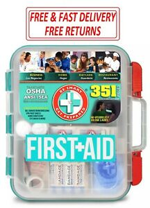 351 piece Emergency First Aid Kit Home Workplace Survival OSHA ANSI Health Care
