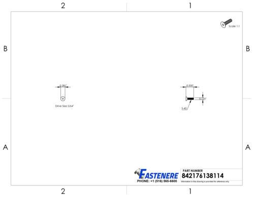 "5-40 x 1//2/"" Flat Head Socket Cap Screws Grade 8 Steel Black Oxide Qty 100"