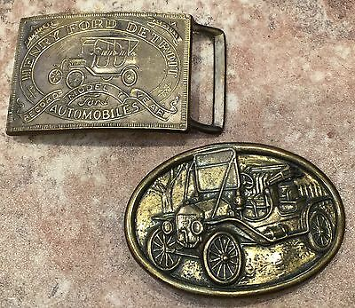 Vintage Belt Buckle Henry Ford Record Year Model T