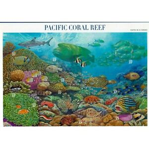 U.S. COMM SHEET OF 10 SCOTT#3831 2004 37ct PACIFIC CORAL REEF MNH