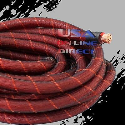 4 Gauge 25ft BLACK Power Ground OFC Wire Copper UTV Marine Grade Cable 4 AWG USA