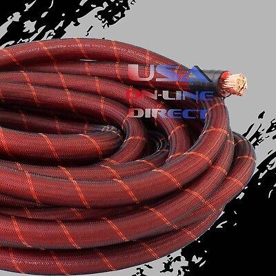 4 Gauge 30ft BLACK Power Ground OFC Wire Copper UTV Marine Grade Cable 4 AWG USA